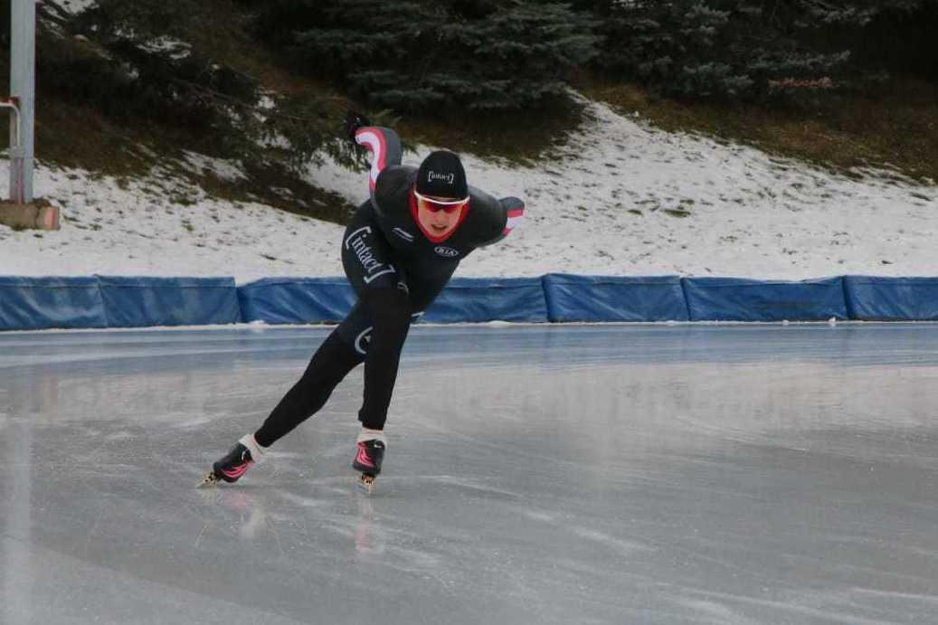Béatrice Lamarche a établi le record de piste à l'anneau Gaétan-Boucher de Québec. — Photo Jean-Philippe Martin