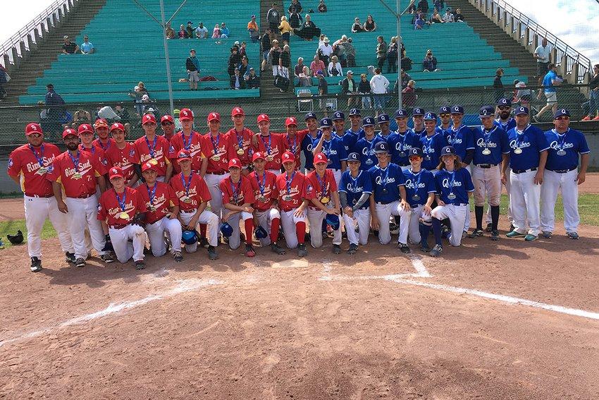 La Rive-Sud et Québec, les équipes médaillées d'or et d'argent