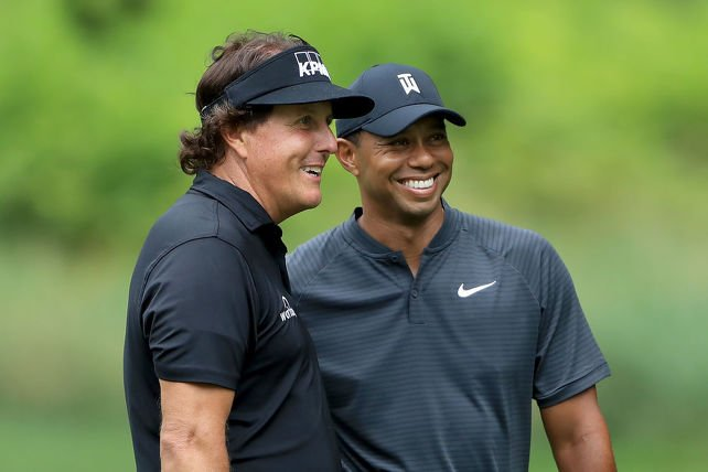 Phil Mickelson et Tiger Woods (Getty)