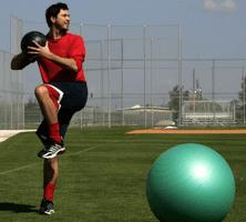 Joueur de baseball à l'entraînement