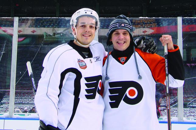 Patrice Bélanger a vécu plusieurs beaux moments en compagnie de son grand ami Daniel Brière, dont ses deux participations à la Classique hivernale avec les Flyers.