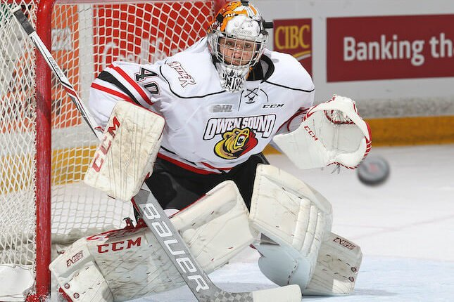 Michael McNiven a connu tout une saison à Owen Sound. (photo Getty)