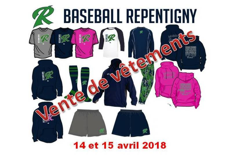 Vêtements disponibles lors de l'inscription