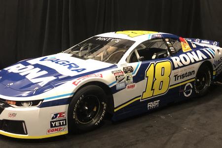 #18 NASCAR Pinty's Race Car