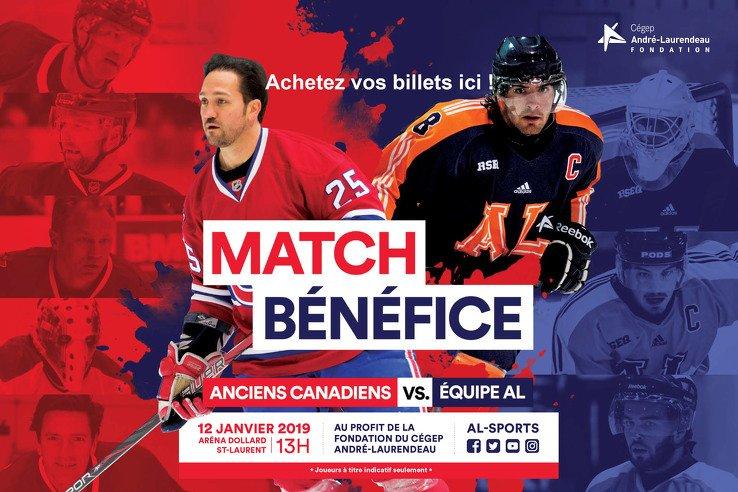 Match bénéfice Anciens Canadiens vs Équipe AL