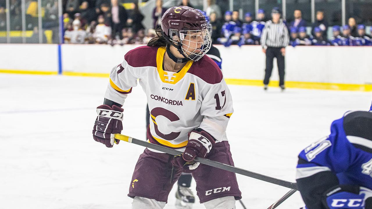 Joueuse de hockey sur la glace