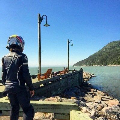Motorcycling, Fleuve St Laurent, Charlevoix, Saguenay, Lex Albrecht, motocycliste