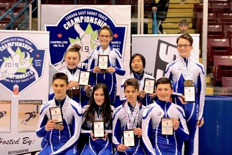 Le Québec revient de Campbellton avec huit champions par catégorie d'âge sur une possibilité de huit, une première au Championnat de l'Est du Canada depuis 2016! — Photo Claude Rochon
