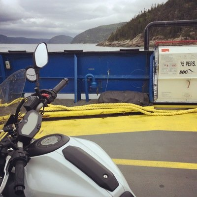 Ferry, Tadoussac, Canada, Quebec, Saguenay, motorcycle, Saguenay Lac-St Jean
