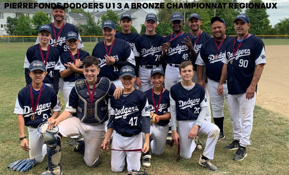 Peewee A Dodgers Bronze