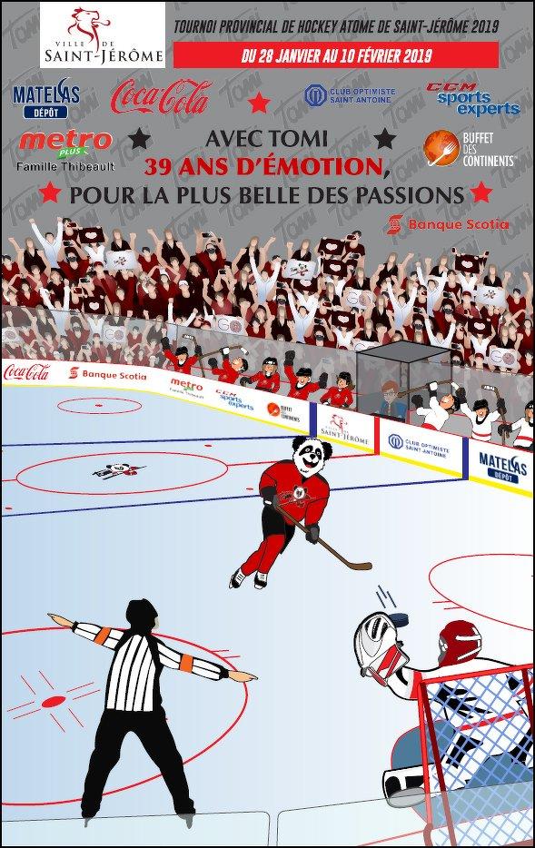 Logo 2019 - Tournoi Provincial Hockey Atome Saint-Jérôme