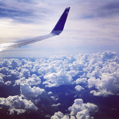 from an airplane
