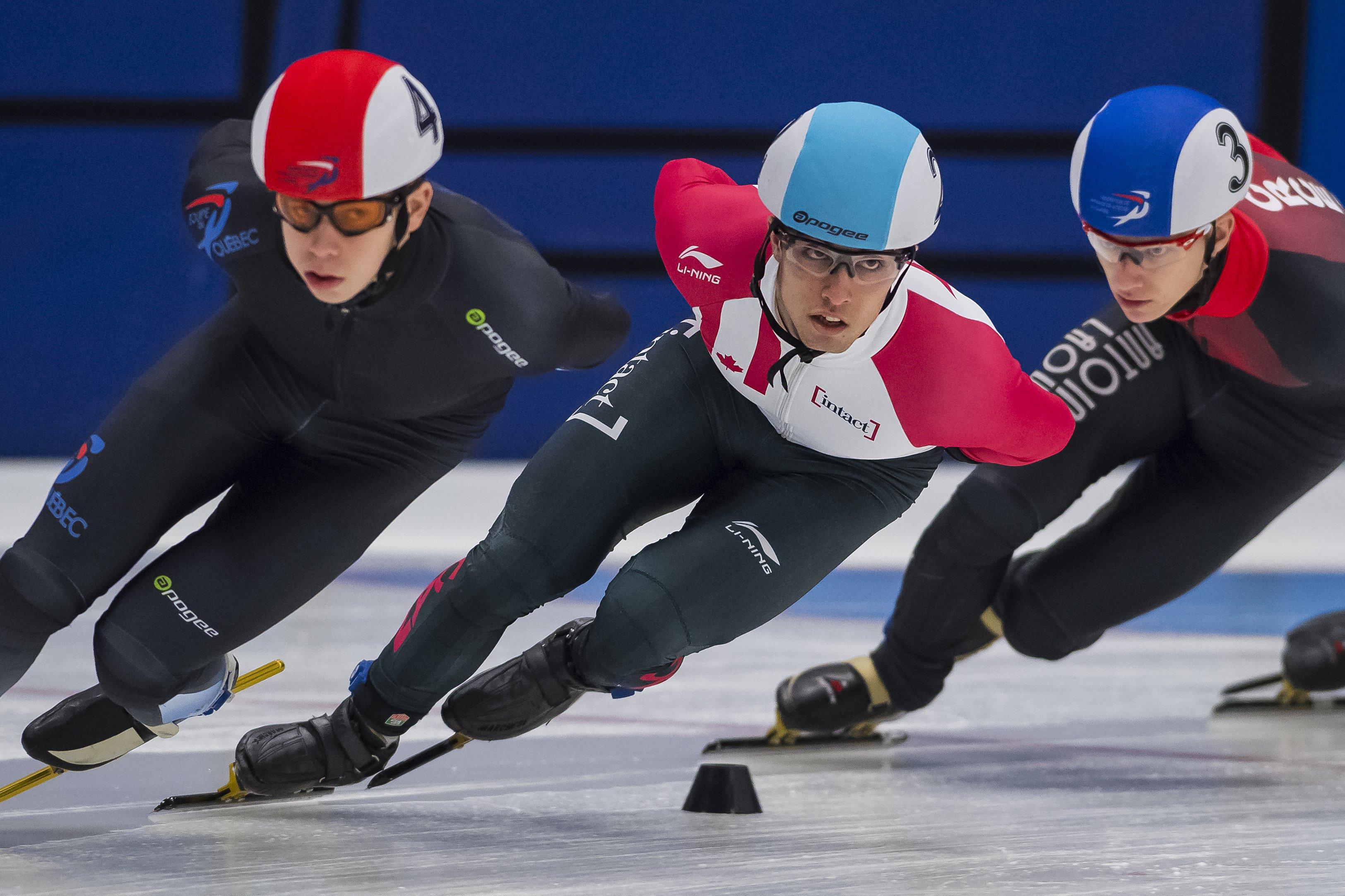 Cédrik Blais a terminé au sommet du classement cumulatif des Sélections canadiennes séniors #1, à Sherbrooke. — Photo Claude Rochon, lors des sélections olympiques