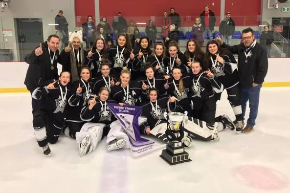 Les Husky féminin Midget AA championnes à Laval