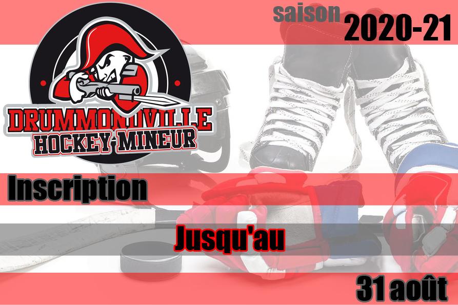 Inscription saison 2020-21