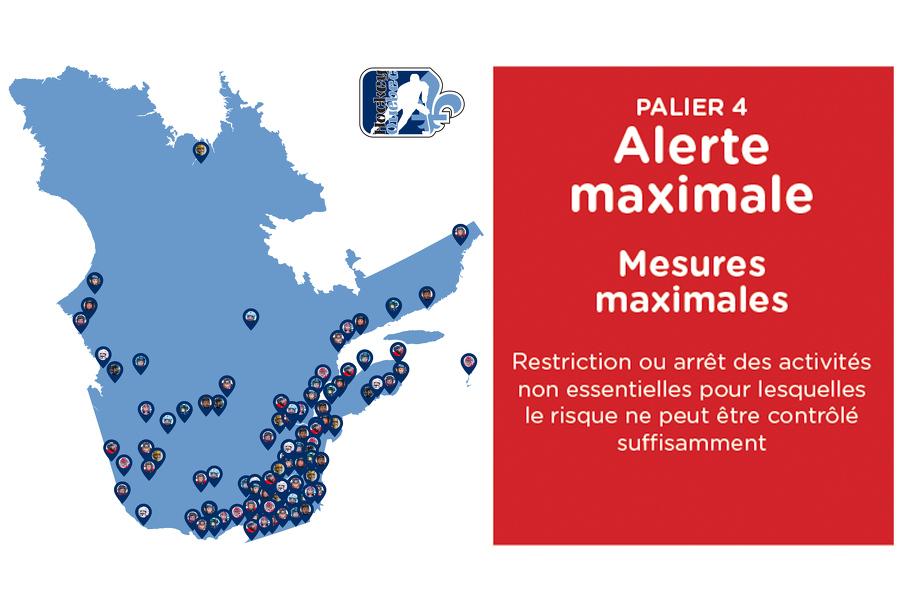 Zone Rouge Pause Des Activites Sportives Organisees Jusqu Au 28 Octobre Hockey Quebec