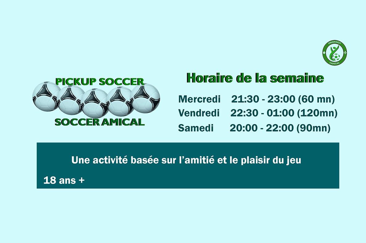Le Soccer Amical, une activité basée sur l'amitié et le plaisir du jeu!