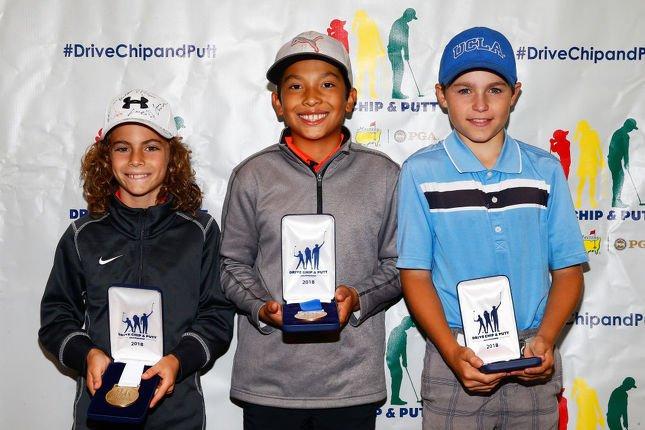 Le jeune Andy Mac, 11 ans, a reporté la compétion de coup roulé des garçons de 10 et 11 ans. (Photo: Getty)