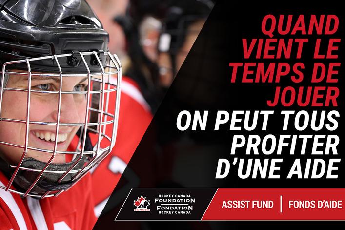 Le fonds d'aide de la Fondation Hockey Canada versera 1 million $ pour aider les jeunes à retourner au hockey