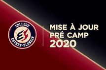 COMMUNIQUÉ:  Mise à jour Pré-camp 2020
