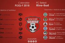 CALENDRIER FC SÉLECT RIVE-SUD