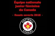 Camp de l'équipe nationale de balle rapide junior féminine au Québec le 28 avril prochain !