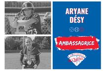 Aryane Désy, ambassadrice de Softball Québec