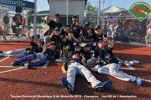 Les Jays B3 de L'Assomption, gagnants du tournoi Moustique B de Blainville