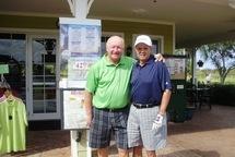 Daniel Pesant en compagnie du journaliste Gilles Terroux au Village Golf Club de Royal Palm Beach.