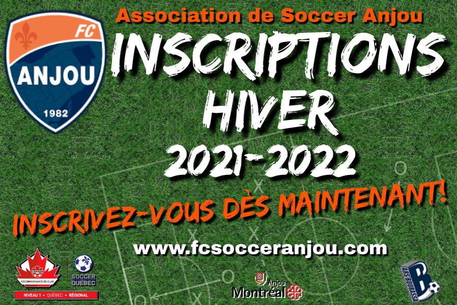 Inscriptions Hiver 2021-2022