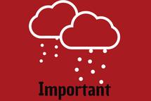 IMPORTANT Annulation météorologique
