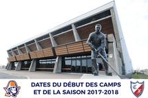 Dates des début de camps et saison 2017