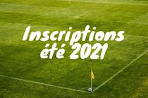 Inscriptions saison été 2021