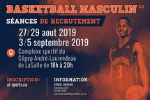 Séances de recrutement - Basketball masculin 2019-2020