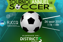 Tournoi de soccer 5vs5 du RJCCQ le 26 Août 2017  au centre de Soccer District 5 à Montréal.