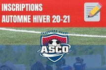 INSCRIPTIONS - HIVER 2021