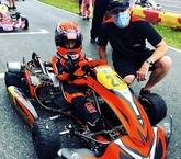 Alex Tagliani with young driver Ilie Tristan Crisan