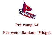 Invitation - Pré-camp AA Pee-wee - Bantam - Midget