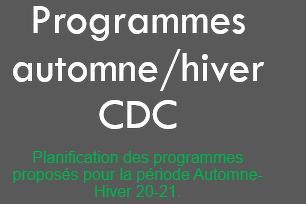 PROGRAMMES AUTOMNE HIVER 2020-2021