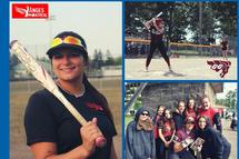 Éliane Cinq-Mars sur le circuit universitaire canadien de balle rapide féminine
