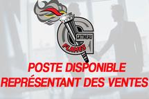 POSTE DISPONIBLE - REPRÉSENTANT(E) DES VENTES