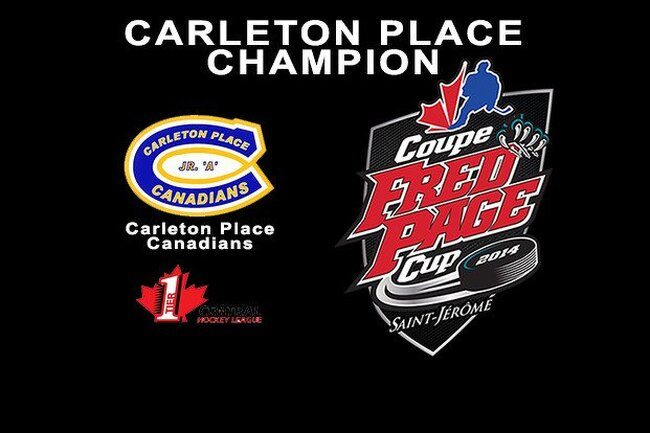 Carleton Place champion of the Fred Page Cup 2014!