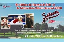 6e Édition Tournoi Golf et 3e Édition Gala Sélects du Nord