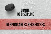 Comité de discipline - responsables recherchés