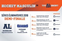 Hockey masculin : Le Boomerang affrontera les Cougars en demi-finale