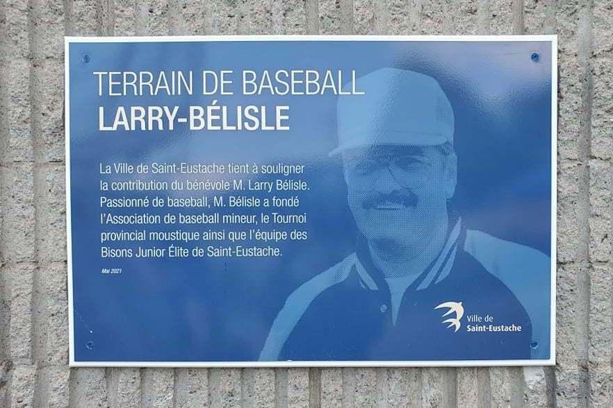 Inauguration du terrain de baseball Larry-Bélisle au parc Clair Matin