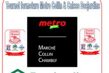 Tournoi & festival de fermeture Metro Collin & caisse Desjardins 2021 remerciements