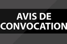 Avis de convocation AGA