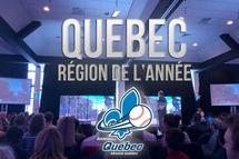 Québec, région de l'année 2019 à Baseball Québec