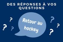 Foire aux questions: retour au hockey et COVID-19